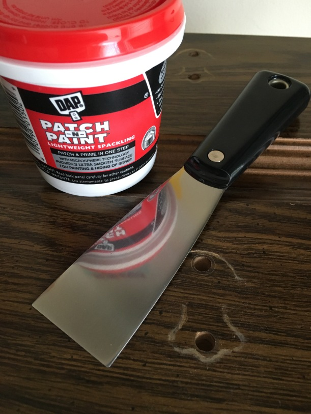 Building Home and Family Wood Filler and Putty Knife